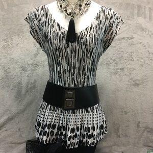 Versatile Black & White Top